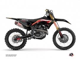 Honda 450 CRF Dirt Bike Works Graphic Kit Black