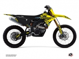 Suzuki 450 RMZ Dirt Bike Zero Graphic Kit Yellow