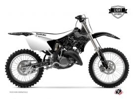 Kit Déco Moto Cross Zombies Dark Suzuki 125 RM Noir LIGHT