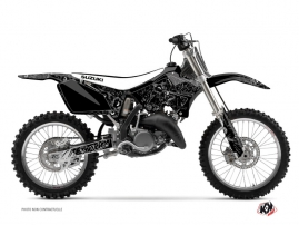 Suzuki 125 RM Dirt Bike Zombies Dark Graphic Kit Black
