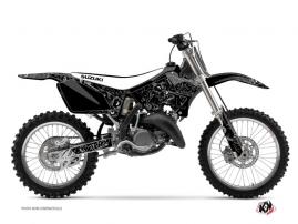 Kit Déco Moto Cross Zombies Dark Suzuki 125 RM Noir