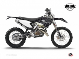 Kit Déco Moto Cross Zombies Dark Husqvarna 125 TE Noir LIGHT