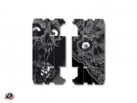 Kit Déco Grilles de radiateur Zombies Dark Yamaha 125 YZ 2015-2016 Noir