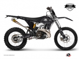 GASGAS 250 EC Dirt Bike Zombies Dark Graphic Kit Black LIGHT