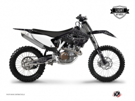 Kit Déco Moto Cross Zombies Dark Husqvarna TC 250 Noir LIGHT