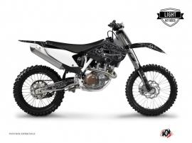 Husqvarna TC 250 Dirt Bike Zombies Dark Graphic Kit Black LIGHT