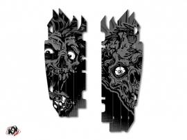 Kit Déco Grilles de radiateur Zombies Dark Kawasaki 250 KXF 2013-2016 Noir