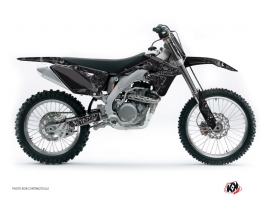 Suzuki 250 RMZ Dirt Bike Zombies Dark Graphic Kit Black