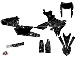 Kit Déco Moto Cross Zombies Dark Yamaha 450 WRF Noir