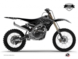 Yamaha 450 YZF Dirt Bike Zombies Dark Graphic Kit Black LIGHT