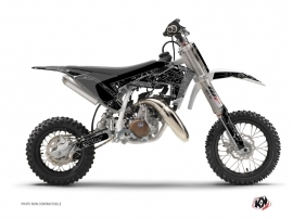 Kit Déco Moto Cross Zombies Dark Husqvarna TC 50 Noir