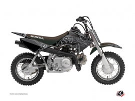 Honda 50 CRF Dirt Bike Zombies Dark Graphic Kit Black