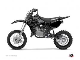 Kit Déco Moto Cross Zombies Dark Kawasaki 65 KX Noir