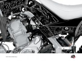 Kit Déco Protection de cadre Quad Zombies Dark Yamaha 700 Raptor 2013-2016 Noir