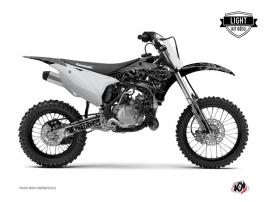 Kit Déco Moto Cross Zombies Dark Kawasaki 85 KX Noir LIGHT
