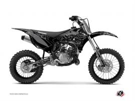 Kit Déco Moto Cross Zombies Dark Kawasaki 85 KX Noir