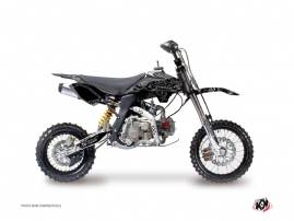 YCF F125 Dirt Bike Zombies Dark Graphic Kit Black