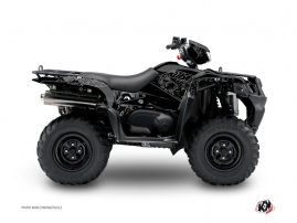 Suzuki King Quad 400 ATV Zombies Dark Graphic Kit Black