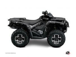 Can Am Outlander 1000 ATV Zombies Dark Graphic Kit Black