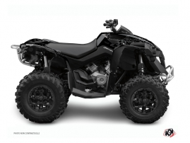 Can Am Renegade ATV Zombies Dark Graphic Kit Black